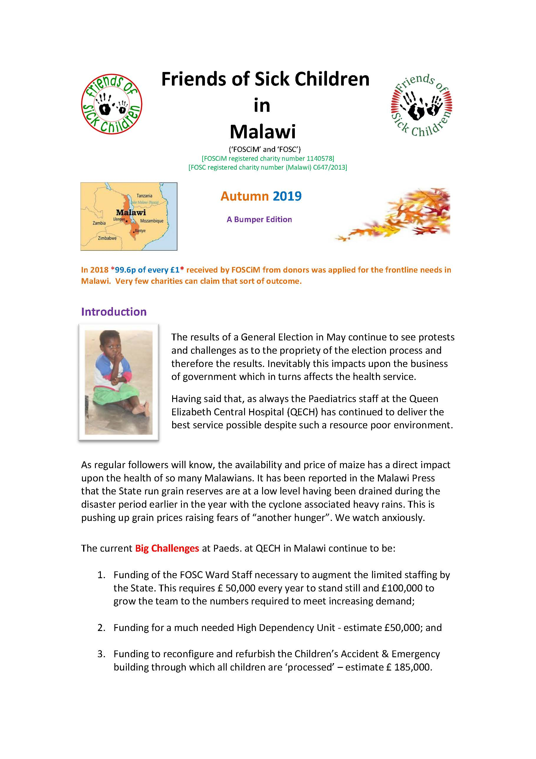 Autumn 2019 Newsletter Page 01